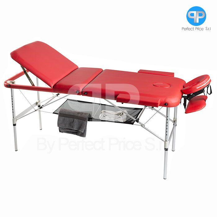 Lettino Per Massaggio Portatile In Alluminio.Lettino Da Massaggio 3 Zone Alluminio Portatile Con Rete Soloxte