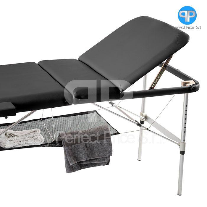 Lettino Massaggio Portatile In Alluminio.Lettino Da Massaggio 3 Zone Alluminio Con Rete Portatile Soloxte