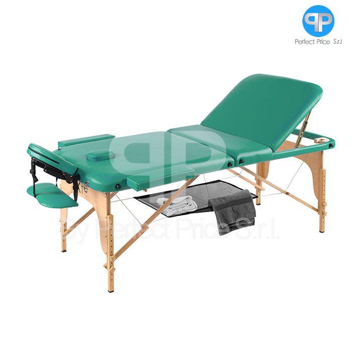 Lettino Da Massaggio In Legno.Lettino Da Massaggio 3 Zone Legno Portatile Con Rete Soloxte