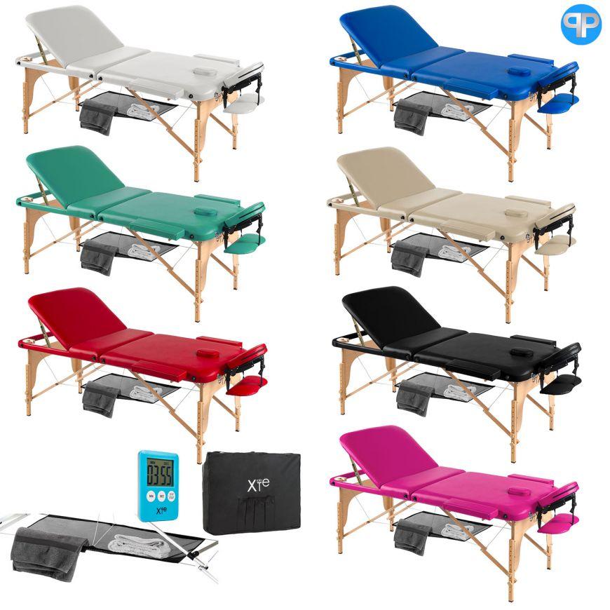 Lettino Massaggio Portatile San Marco.Lettino Da Massaggio 3 Zone Legno Portatile Con Rete Soloxte