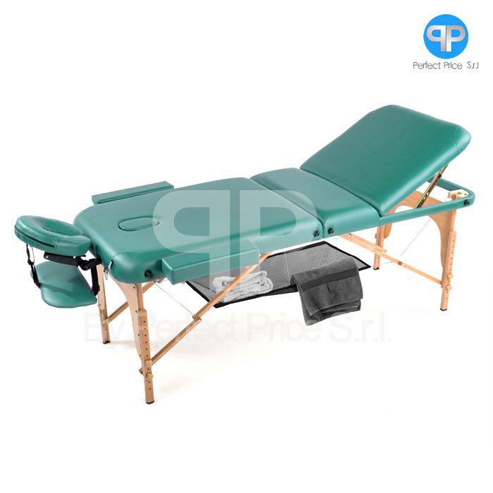 Lettino Da Massaggio Portatile 10 Kg.Lettino Da Massaggio 3 Zone Legno Portatile Confort Con Rete Soloxte
