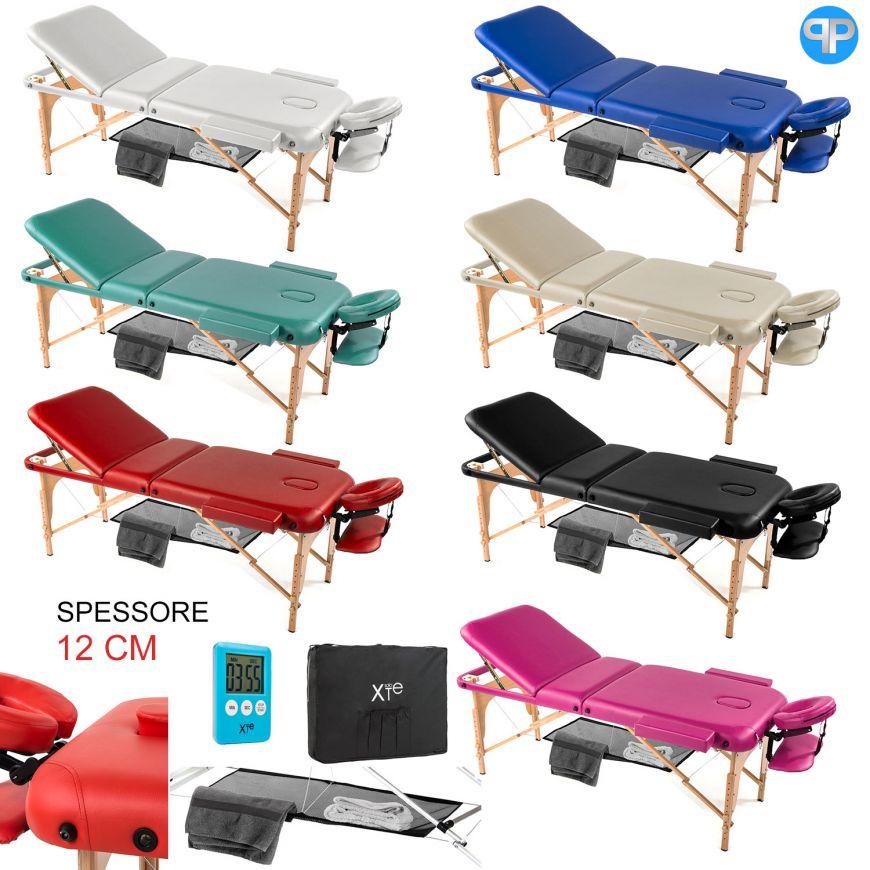 Lettino Da Massaggio In Legno.Lettino Da Massaggio 3 Zone Legno Portatile Confort Con Rete Soloxte