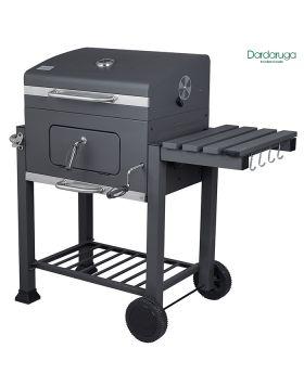 BBQ Barbecue grill a carbone carbonella con ripiano griglia affumicatore