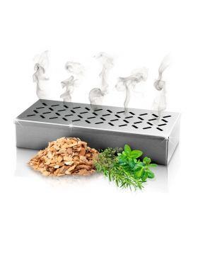 DARDARUGA Affumicatore Barbecue – Smoker Box per Affumicare la Carne alla Griglia - Prodotto Robusto in Acciaio Inox - Affumicatoio Adatto per Tutti i Tipi di BBQ
